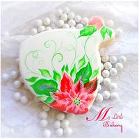 Poinsettia dress cookie