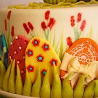 Easter Cake with Bunny by Simone Barton