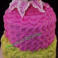Petal and Rose Cake