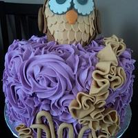 Purple Owl with Ruffles