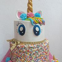 UNICORN GIRL CAKE