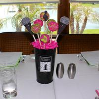 Music Cake Pop Centerpiece by Cuteology Cakes