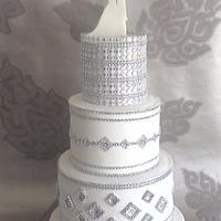 Blinged Wedding Cake