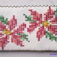 Poinsettia cross stitch