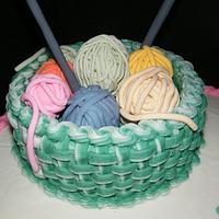 A knitter's birthday cake by Judy Remaly