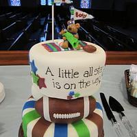 Sport Baby Shower Cake