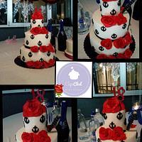 Rose e ancore cake . 18 anni B-Day