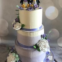 Wedding cake with penguins