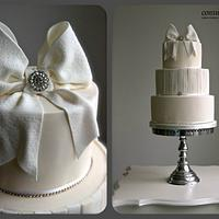 Sugar Bow Wedding Cake