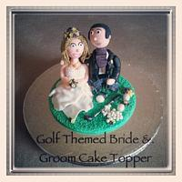 golf themed wedding cake