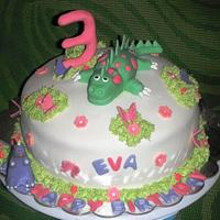 Girls Dinosaurs Cake (July 2012)