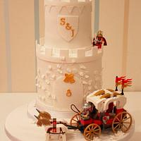 Jen and Steve's Lego Castle Wedding Cake