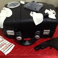 7th Birthday Secret Agent Case Cake by MariaStubbs