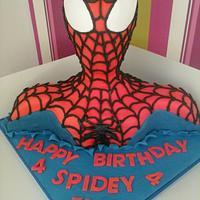 Novelty 3d Spiderman Birthday Cake