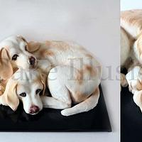 Two lemon beagles - Cake
