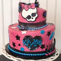 Monster High Topsy Turvy Cake