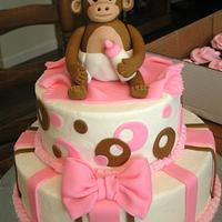 Pink baby monkey