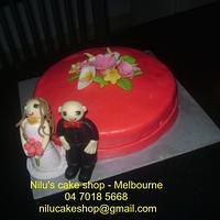 Lovely Wedding Anniversary Cake