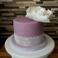 Blueberry MMF Birthday Cake