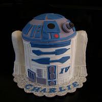 R2D2 3D cake
