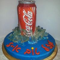 coca cola can cake