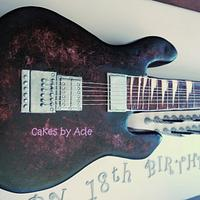 Guitar Cake - 18th Birthday, June 2013