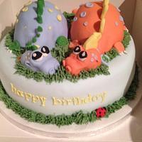 Twin Dinosaur  by Lisa