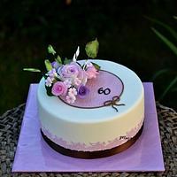 Pink & lilac birthday cake