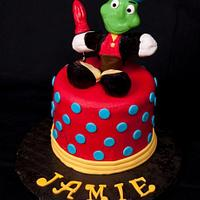 Jiminy Cricket cake