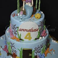 'Arial the mermaid' birthday cake by designed by mani