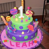Candy land theme cake