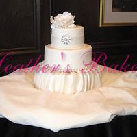 Fondant Ruching and Austin style Rose