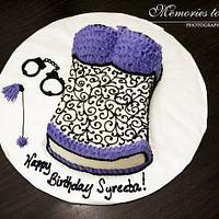 Simple Lingerie Cake