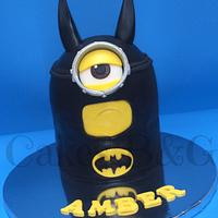 """Batman"" Minion themed cake"