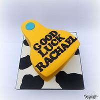 Cow Ear Tag Cake