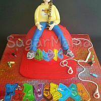 Clarinet boy on a hip hop cap!