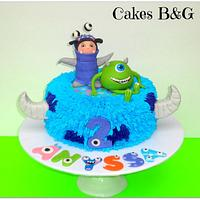 Phenomenal Monsters Inc Birthday Cake Cake By Laura Barajas Cakesdecor Funny Birthday Cards Online Hendilapandamsfinfo