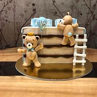 6 months birthday cake