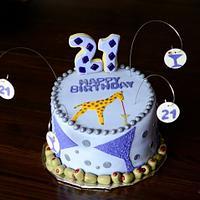 Martini 21st birthday cake