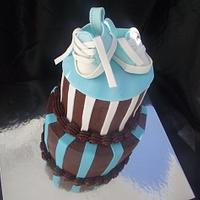 Baby Converse Shower Cake!