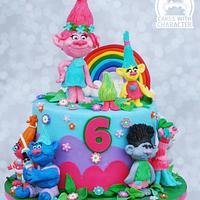Trolls birthday cake!