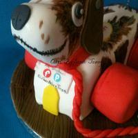 little snoopy toy dog cake by sarahtosney