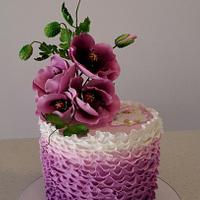 Purple poppies  cake