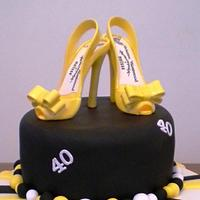 Birthday cake for a shoe fanatic...!