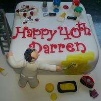 Painter/decorator cake