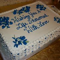 Texas Bluebonnet Bridal Shower Cake