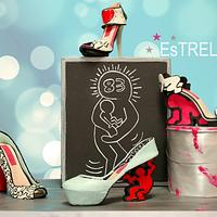 Keith Haring inspired cake and shoes