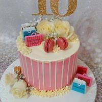 Gold Glitter 16th Cake