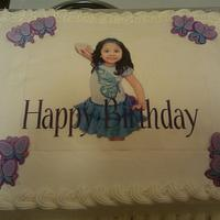 Little Girl's Birthday cake w/an edible image