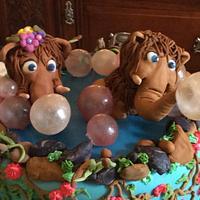 Baby Dinosaur  Baby Shower Cake